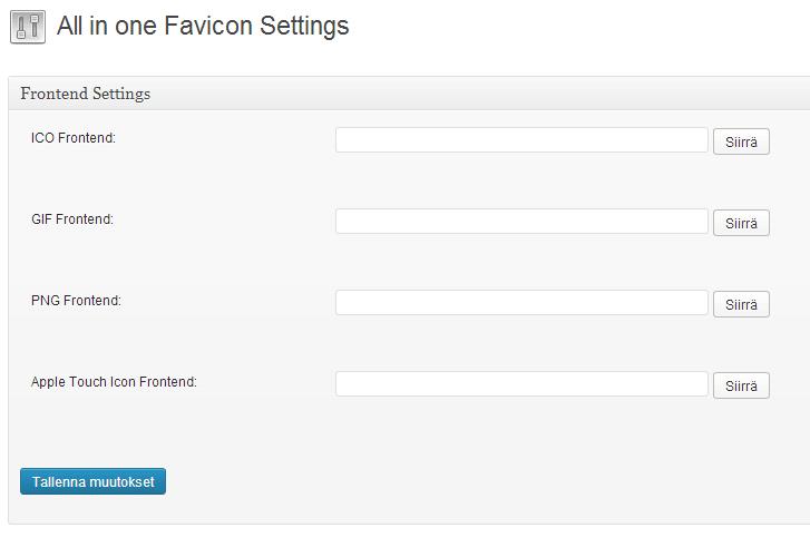 favicon-asetukset