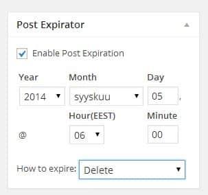 post-expirator