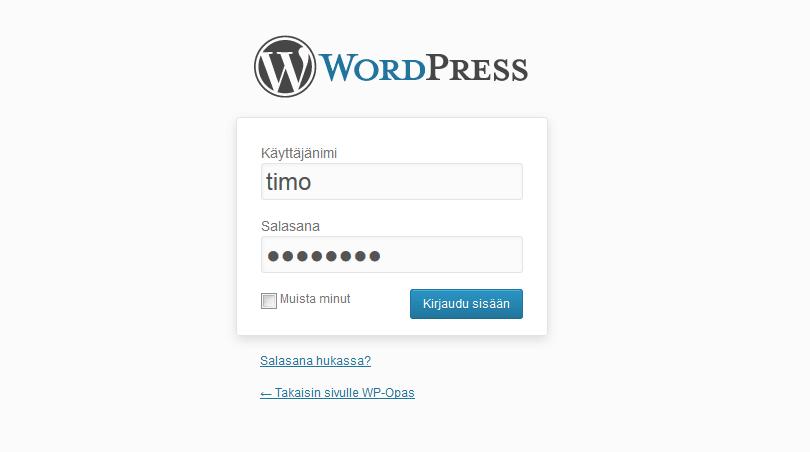 wordpress-kirjautuminen-oletus