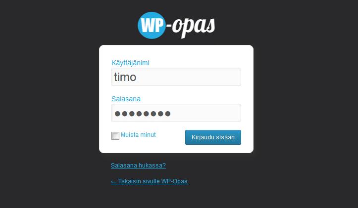 wordpress-kirjautuminen-wpopas
